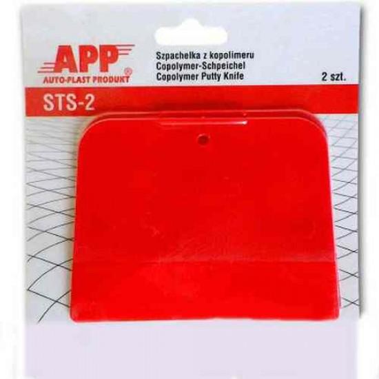 APP Шпатели из кополимера красный 12 x 11 x 9cm кол-во в упак (2шт)250304