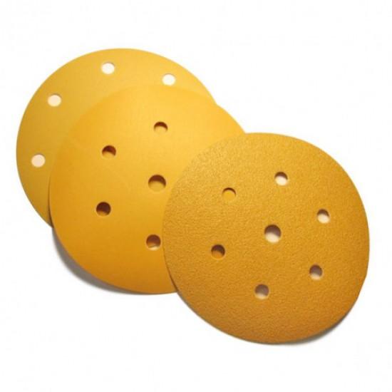 SUNMIGHT GOLD  150mm абразивные диски на бумажной основе золотистого цвета P40