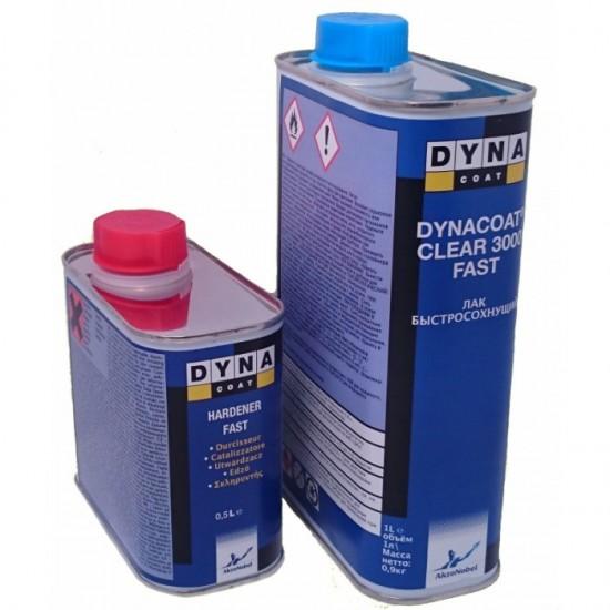 DYNA Лак Clear 3000 FST 1л с отвердителем Hard Fast 0.5л