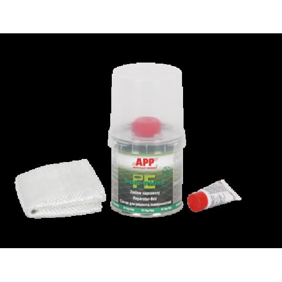 APP Ремонтный комплект для пластика (полиэфирная смола + ткань из стекловолокна + отвердитель) 0,25 кг