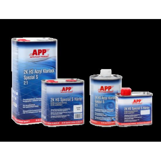 APP Акриловый лак специальный HS Klarlack Spezial S 2:1 5л + Отвердитель к лаку Spezial S APP HS Spezial S Harter XLHN - нормальный 2,5л