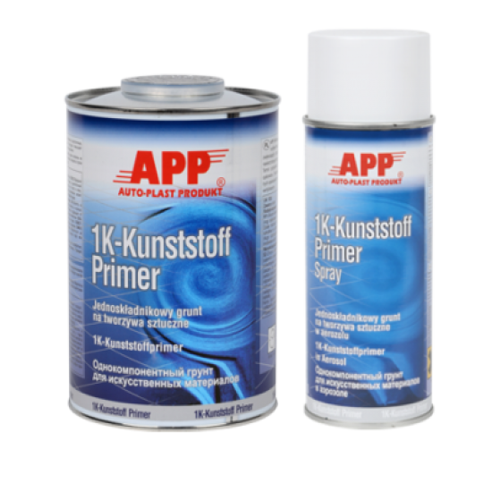 APP Однокомпонентный грунт для пластмасс 1K-Kunstoff Primer серебряный 1л