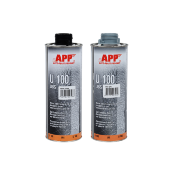 APP Средство для защиты кузова серое APP-U100 Baranek 1л