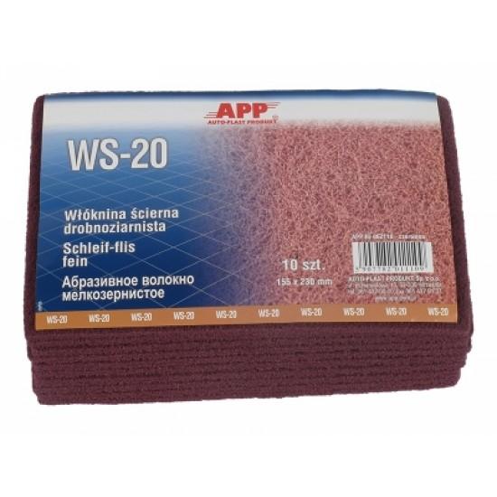 APP Волокно абразивное мелкозернистое /красное 155 x 230 мм WS-20 1шт