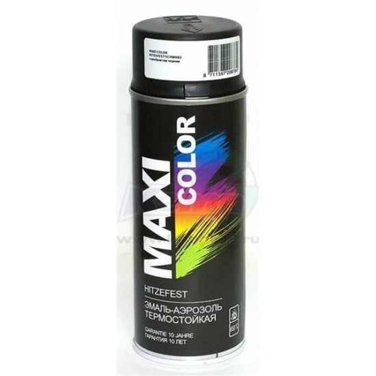 MAXI COLOR Термостойкая краска черная400 мл