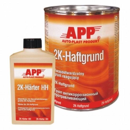 APP Грунт антикоррозионный кислотный протравливающий 2K Haftgrund 1л + Отвердитель к реактивному грунту  APP 2K-HAFTGRUND 0,5л