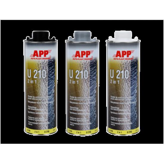 APP Средство для защиты кузова и жидкая уплотнительная масса (герметик) APP-U210 2 в 1 черное 1л