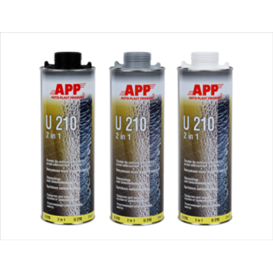 APP Средство для защиты кузова и жидкая уплотнительная масса (герметик) APP-U210 2 в 1 белое 1л