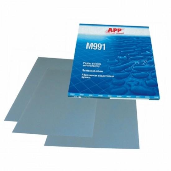 APP Бумага наждачная водостойкая APP MATADOR 991 синяя 230x280мм  P600 / 1шт