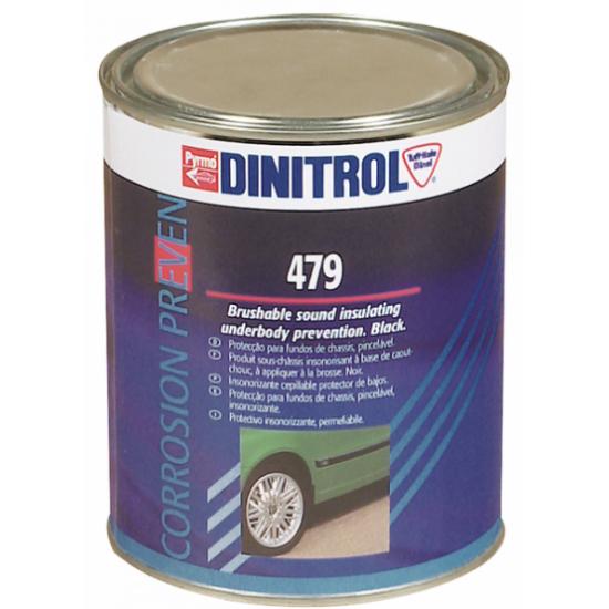 DINITROL 479 Битумно-восковая мастика с резиновым наполнителем 1л