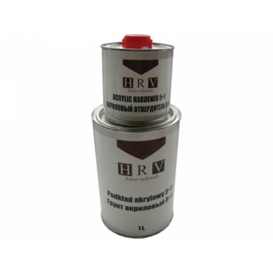 HRV Грунт акриловый  серый Steel Plastic 5+1 1,0л+0,2л