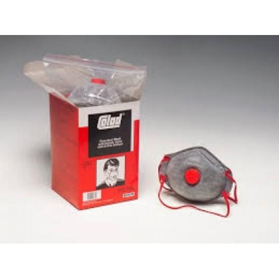 5425Colad  Респиратор с угольным вкладышем и клапаном от пыли (FFP2) Противопылевая маска тонкой очистки с клапаном выдоха и угольным фильтром. Снабжена регулируемым носовым зажимом, для защиты от мелких частиц пыли и аэрозольного тумана, очень легкая,
