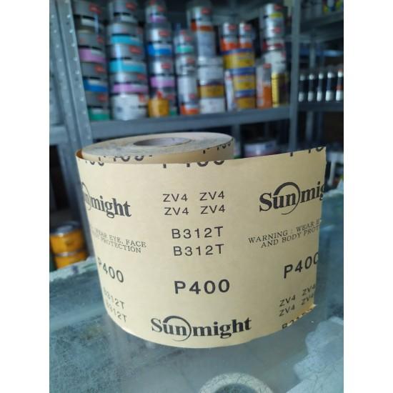 SUNMIGHT GOLD  rolls 115mm x 50m абразивная бумага в рулонах на бумажной основе P400