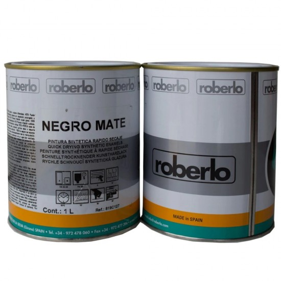 ROBERLO Negro mate, черная матовая краска 1л.